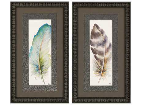 Paragon Pinto Plumes II Painting (Two-Piece Set)