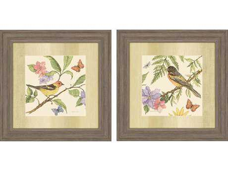 Paragon Roberts Flora and Fauna I Exclusive Giclee Painting (Two-Piece Set)