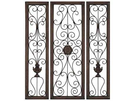Paragon Rusty Vine Rusty Vine 3 Panel Room Divider (Three-Piece Set) PAD9812