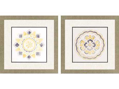 Paragon Vess Set of 2 ''Modern Medallions I '' Wall Art