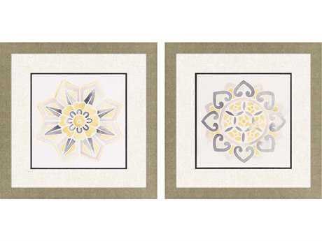Paragon Vess Set of 2 ''Modern Medallions II '' Wall Art
