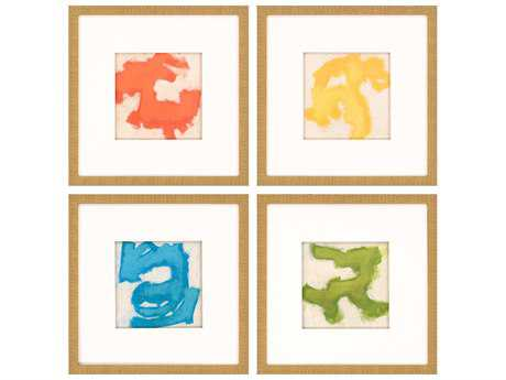 Paragon Vess Gestural I Giclee Painting (Four-Piece Set)