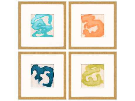 Paragon Vess Gestural II Giclee Painting (Four-Piece Set)