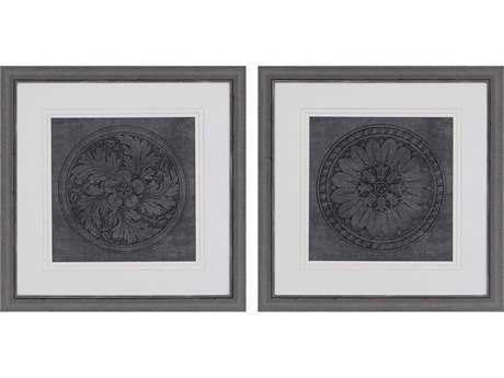 Paragon WA Portfolio Rosettes I Wall Art (Two-Piece Set)