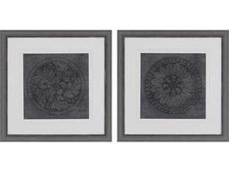 WA Portfolio Rosettes I Wall Art (Two-Piece Set)