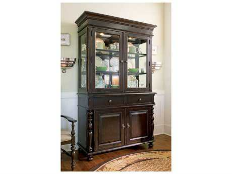Paula Deen Home Tobacco China Cabinet with Hutch PDH932680C