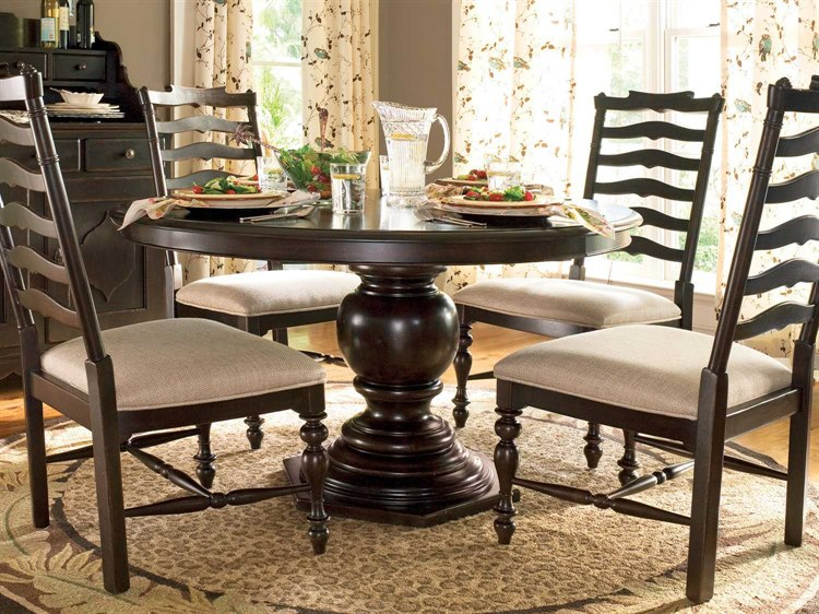 Paula Deen Home Tobacco 72 X 54 Round Pedestal Dining Table Pdh932655