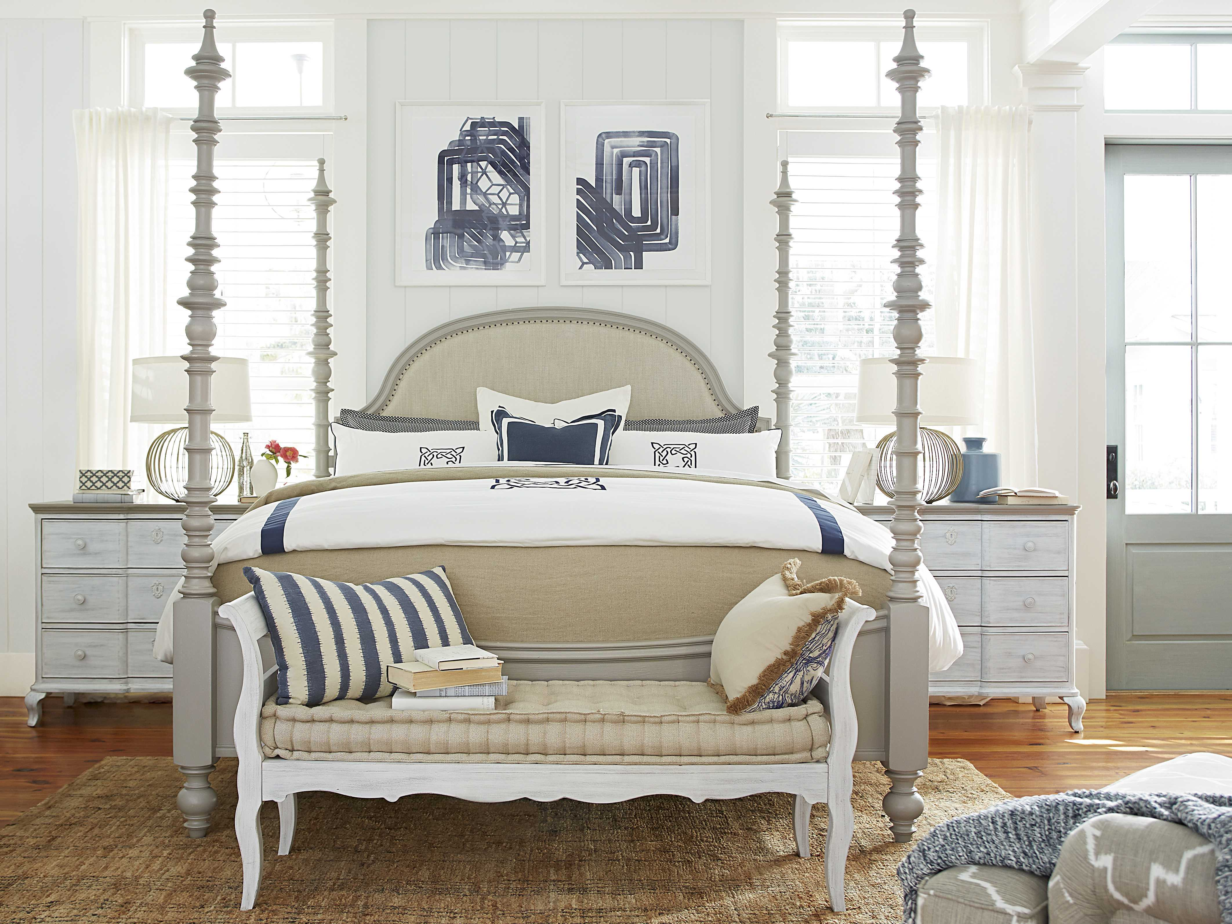 Paula deen home dogwood cobblestone poster bed bedroom set - Paula deen bedroom furniture collection ...