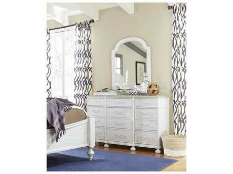 Paula Deen Home Dogwood Blossom with Cobblestone Top Triple Dresser Set with Mirror