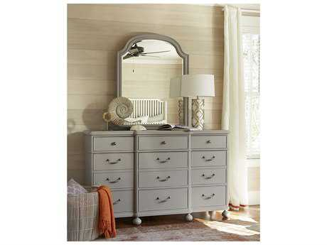 Paula Deen Home Dogwood Cobblestone Triple Dresser Set with Mirror