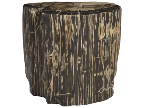 Phillips Collection Brown / Grey Accent Stool