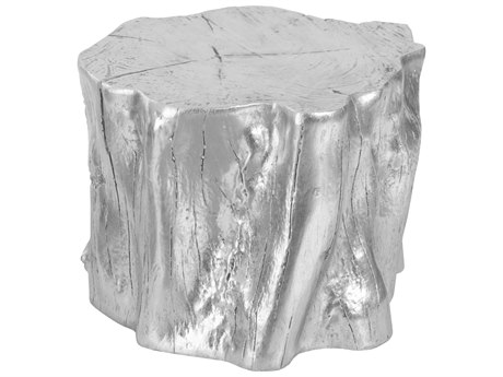 Phillips Collection Cast Naturals Silver Leaf Accent Stool