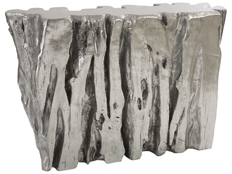 Phillips Collection Cast Naturals Silver Leaf 51'' Wide Console Table