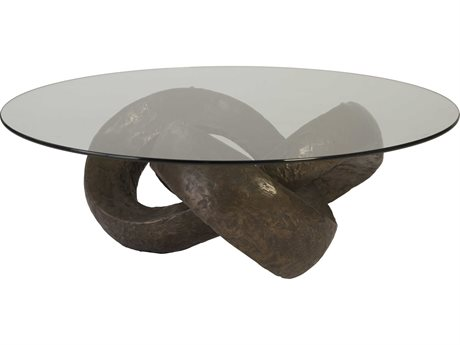 Phillips Collection Bronze 48'' Wide Oval Coffee Table PHCPH80673