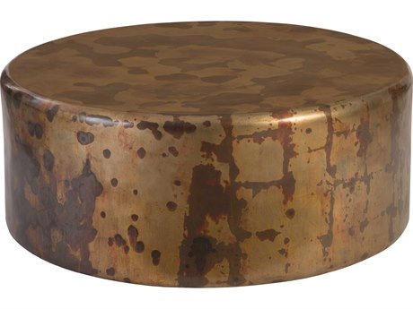 Phillips Collection Copper Acid Posh 43'' Wide Round Coffee Table PHCCH77698