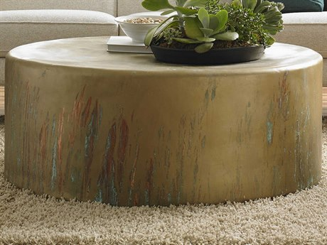 Phillips Collection Copper Acid Lichen 43'' Wide Round Coffee Table PHCCH77706