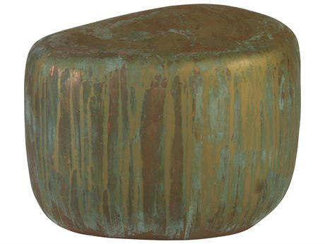 Phillips Collection Copper Acid Lichen 24'' Wide Drum Table