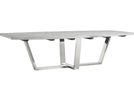 Phillips Collection Silver / Grey 118'' Wide Rectangular Dining Table