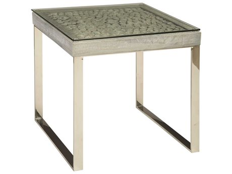 Phillips Collection Silver / Grey 23'' Wide Square End Table