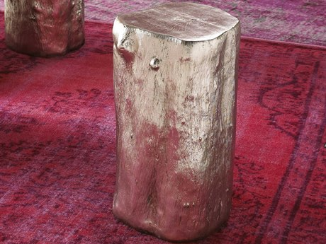 Phillips Collection Log Silver Leaf Accent Stool