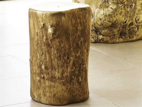 Phillips Collection Log Gold Leaf Accent Stool PHCPH55915