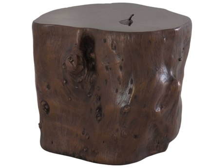 Phillips Collection Log Bronze Accent Stool PHCPH56724