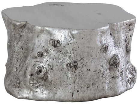 Phillips Collection Log Silver Leaf 35'' Wide Round Coffee Table
