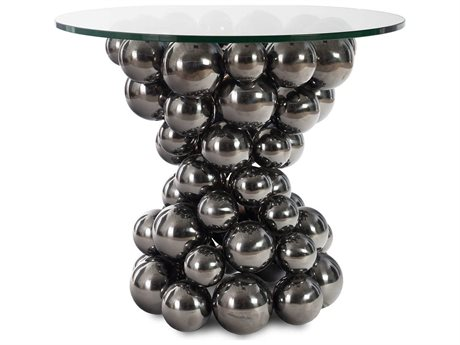 Phillips Collection Silver 26'' Wide Round Pedestal Table PHCCH72550