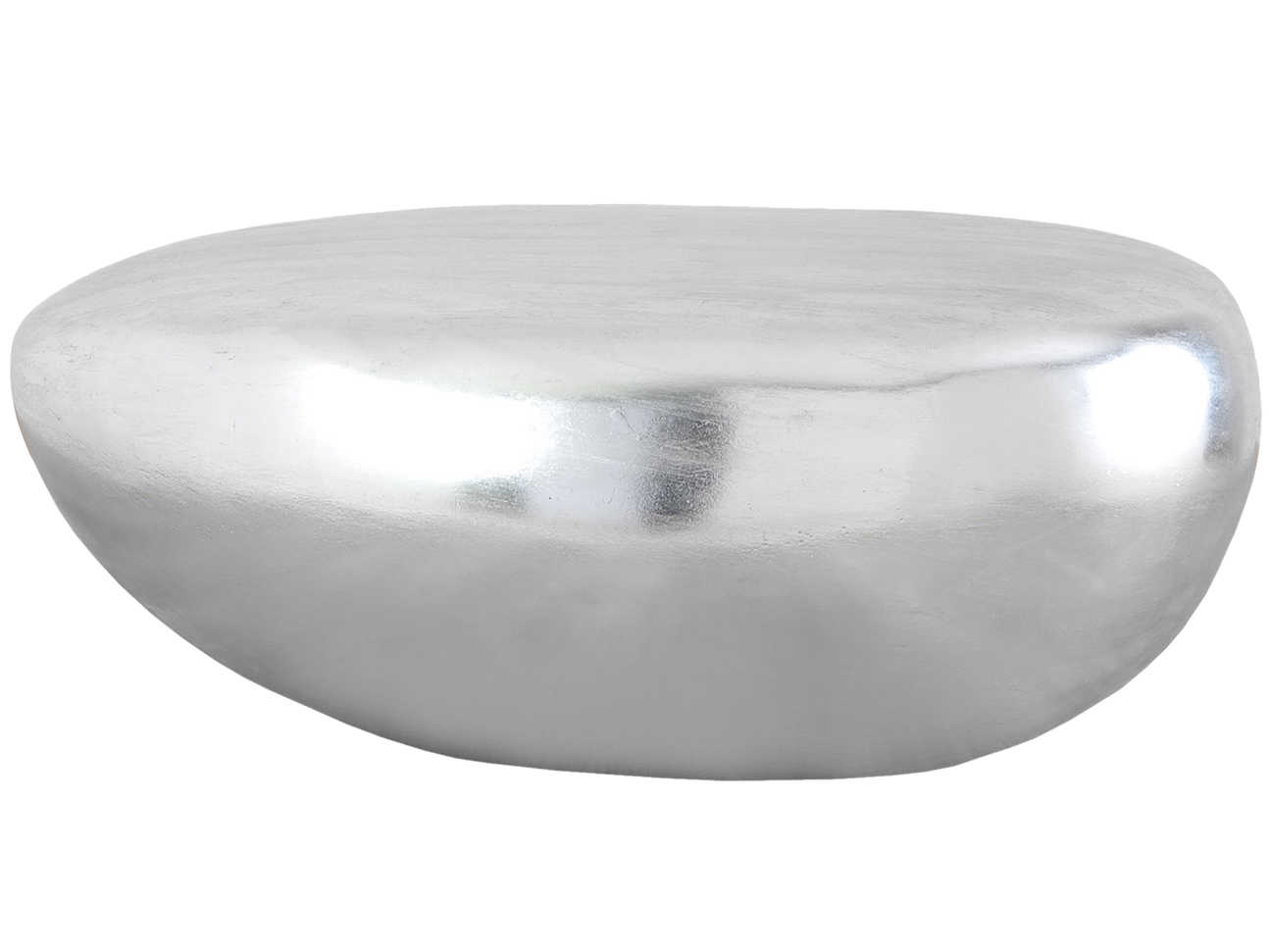 Fabulous Phillips Collection River Stone Silver Leaf 19 Wide Oval Coffee Table Inzonedesignstudio Interior Chair Design Inzonedesignstudiocom