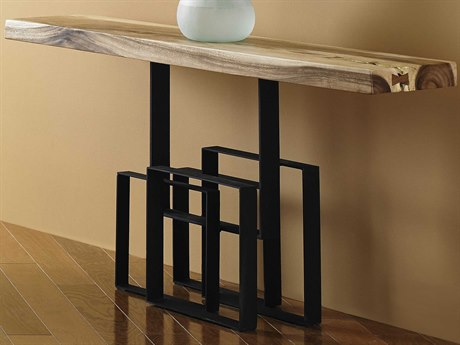 Phillips Collection Score Brown / Black 60'' Wide Rectangular Console Table