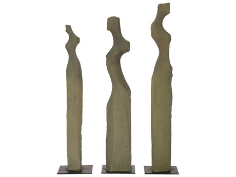 Phillips Collection Grey Sculpture (Set of 3)