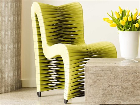 Seat Belt Chartreuse Side Dining Chair