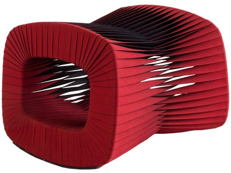 Phillips Collection Seat Belt Red Ottoman PHCB2064RZ