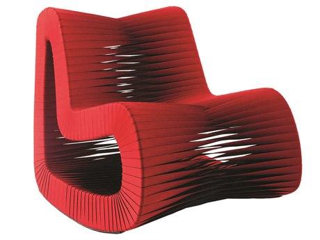 Phillips Collection Seat Belt Black / Red Rocker Rocking Chair PHCB2063RZ