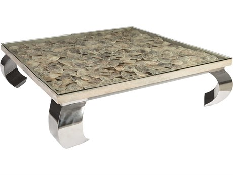 Phillips Collection Shell Natural 60'' Wide Square Coffee Table PHCPH81449