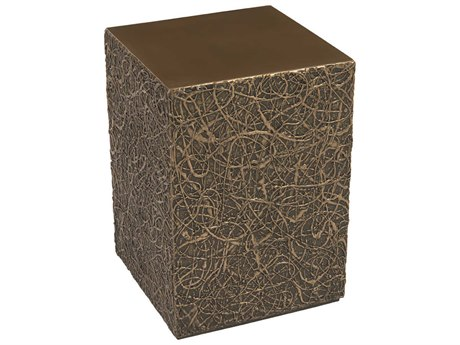 Phillips Collection String Polished Bronze 14'' Wide Square End Table