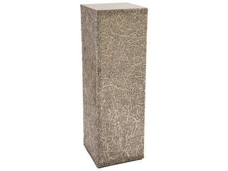 Phillips Collection String Silver Leaf 14'' Wide Square Pedestal Table