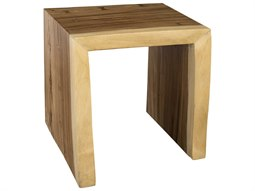Waterfall Natural 25'' Wide Square End Table