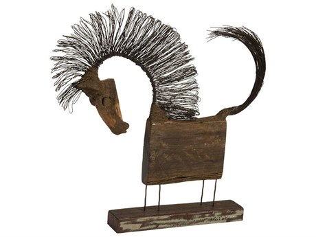 Phillips Collection Wire Horse Brown / Black Sculpture