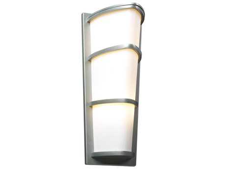 PLC Lighting Alegria Silver Two-Light Incandescent Outdoor Wall Light