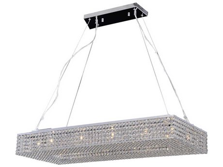 PLC Lighting Alexa Polished Chrome 12-Light 39'' Wide Island Light PLC92919PC
