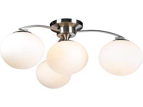 PLC Lighting Aosta Satin Nickel 29'' Wide Four-Light Semi-Flush Mount Light PLC7228SN