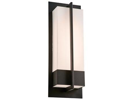 PLC Lighting Brecon Black 7'' Wide LED Wall Light PLC2906BK