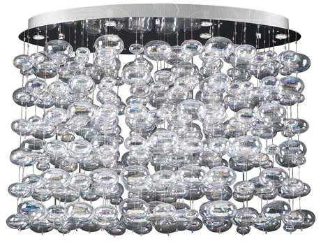 PLC Lighting Bubble Polished Chrome 48'' Wide 12-Light Island Light PLC96967PC