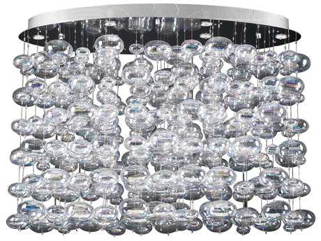 PLC Lighting Bubble Polished Chrome 34'' Wide Six-Light Island Light PLC96969PC