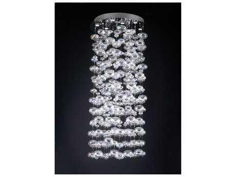 PLC Lighting Bubbles Polished Chrome 96'' High 15-Light Pendant PLC96994PC