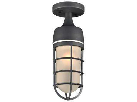 PLC Lighting Cage Bronze Incandescent Outdoor Ceiling Light