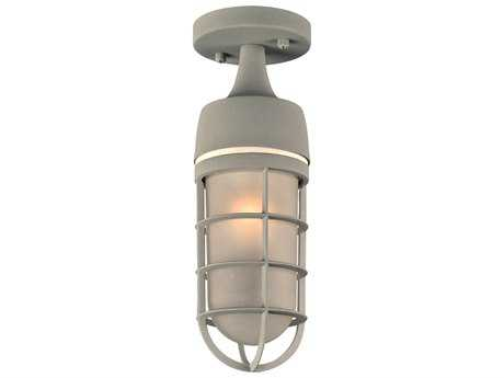 PLC Lighting Cage Silver Incandescent Outdoor Ceiling Light