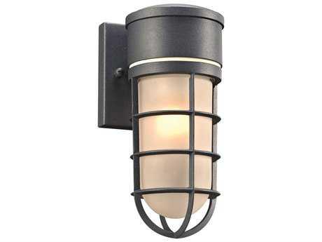 PLC Lighting Cage Bronze Incandescent Outdoor Wall Light PLC8050BZ