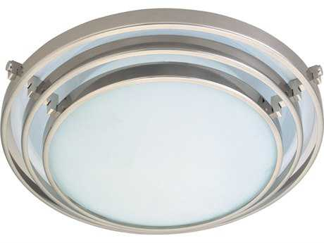 PLC Lighting Cascade Satin Nickel 12.5'' Wide Halogen Flush Mount Light (Sold in 2)